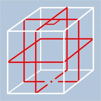GLL 8-40ELR [水平4ライン、垂直4ライン、鉛直、地墨(フルライン)]